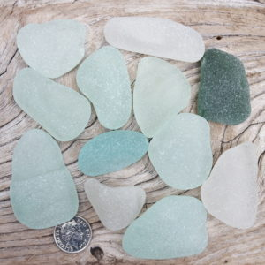 Vintage sea glass from North East coast
